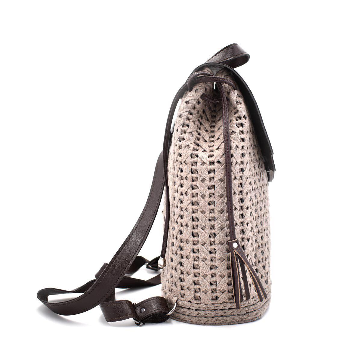 c167adfdc5 Αρχική σελίδαΝέες ΑφίξειςΧειροποίητη πλεκτή τσάντα πλάτης Μπέζ-καφέ. -36%  Νέο. 🔍. 1  2