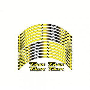 Σετ Αυτοκόλλητα Ζάντας για T-Max - Κίτρινα