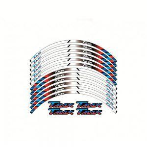 Σετ Αυτοκόλλητα Ζάντας για T-Max - Λευκό-Μπλε-Κόκκινο
